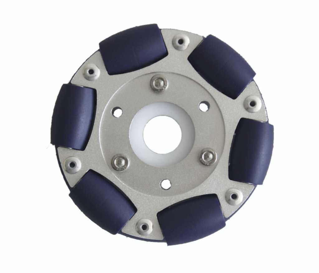 100mm Aluminum Double Omni wheel with bearing rollers 1
